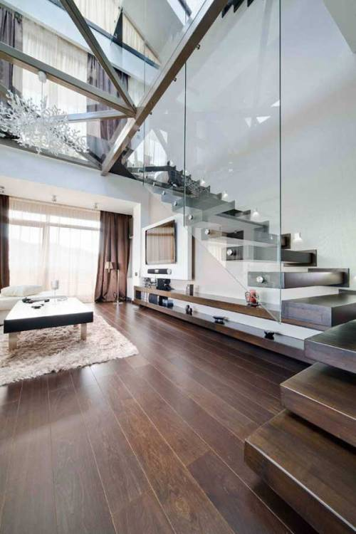 justthedesign:  Living Room Urban Romanian Loft