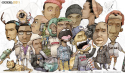 Just found this artwork of Odd Future Wolf Gang Kill Them All.