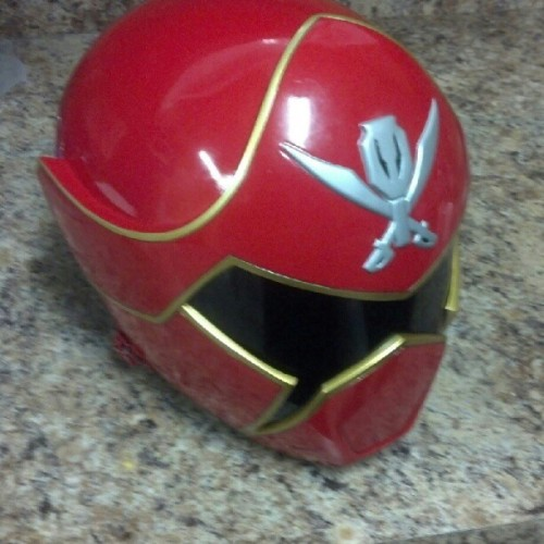 Jerome's Gokai Red Helmet. I cant wait to get mine. #gokaired #redranger #gokaiger #rangers #helmet #awesomeness (Taken with Instagram)