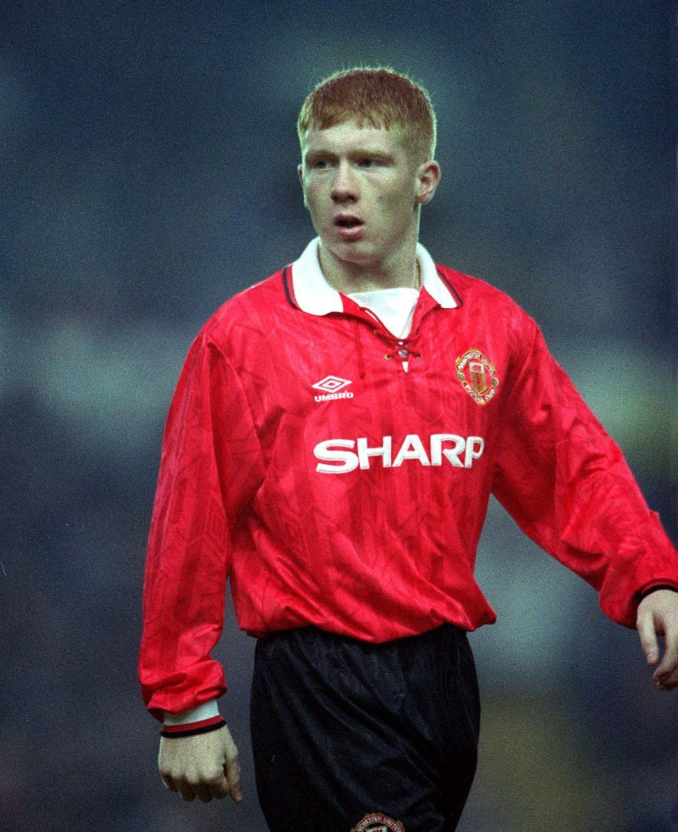 700 veces Devil Paul Scholes, Manchester United. Temporada 1994/1995.