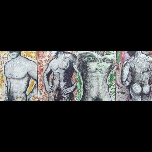 Shape series paintings #mixedmedia #selfportrait #nudes #gallery446 # (Taken with Instagram)