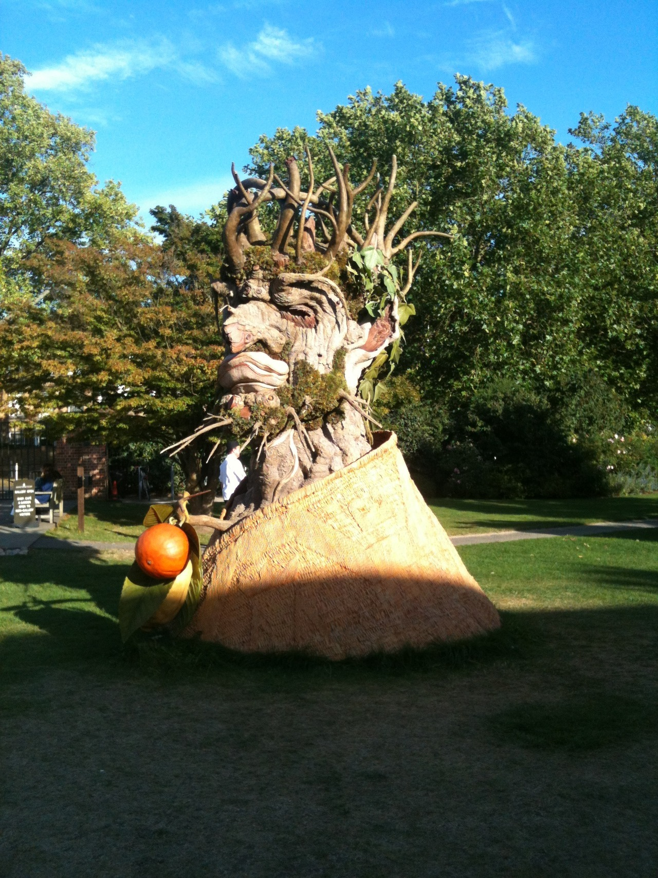 I found these huge Arcimboldo-esque sculptures in the gardens of the Dulwich Picture Gallery.