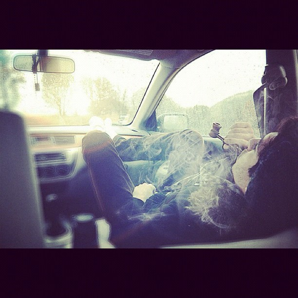 Smoking kush through a pipe, hot boxing' the cars mehn! #photograph #photography #photoshoot #weed #smoke #car #hotbox #kush #pipe #cro #crow #bunnin #buzzin #cloud9 #faded #baked #hazed #haze #monged #gone #highlife #high  (Taken with Instagram)