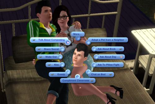 simsgonewrong:  Sexy pillow talk.