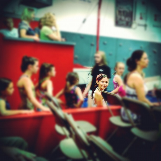 Anika ready to vault #gymnastics #cute #vault #fun  (Taken with Instagram at Gold Country Gymnastics)
