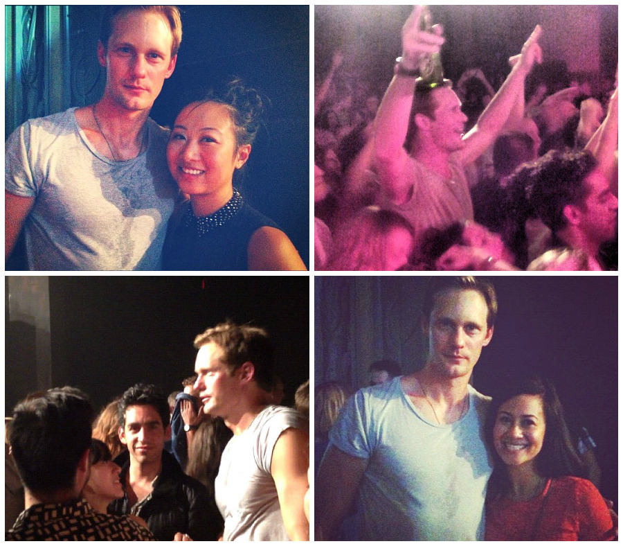 "t-trueblood-b:  Fan pics of Alexander Skarsgard at the ""Hot Chip"" concert (September 15, 2012, Vancouver).- Thanks to santress  Oh…lucky people…. *sigh*"