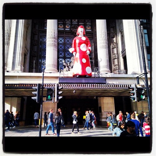 Kusama: that's what art means to London! (Taken with Instagram at Selfridges & Co)