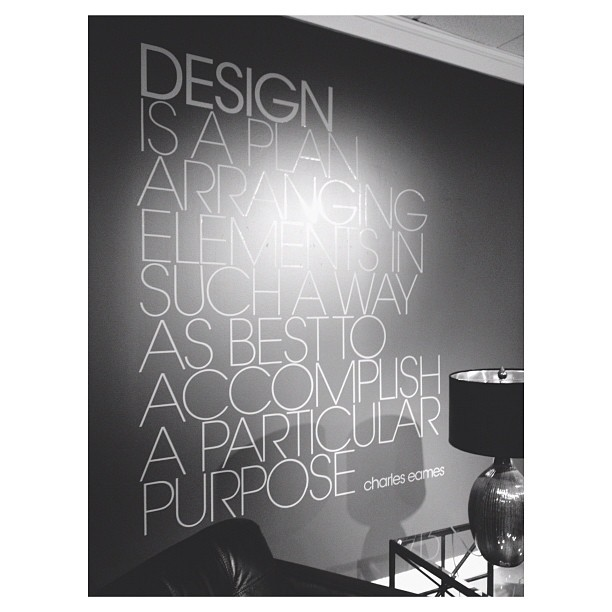 Design is… #CharlesEames (Taken with Instagram)