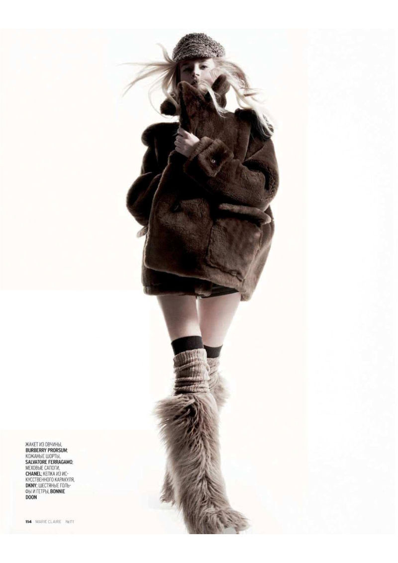 Iza Olak Photographed by Alan Gelati for Marie Claire Russia January 2011