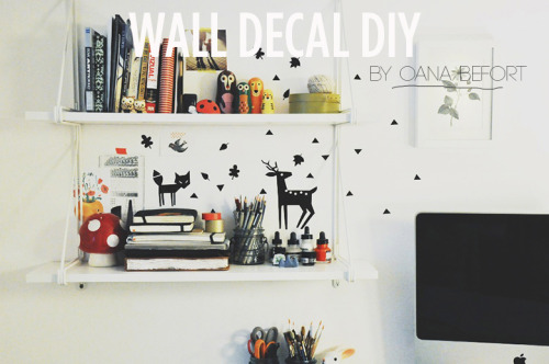 Wall Decal DIY via Sincerely Kinsey