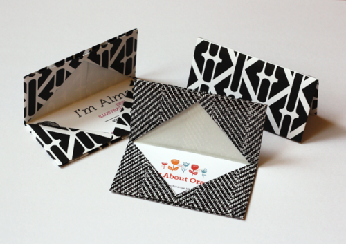 How to make an origami business card holder via How About Orange