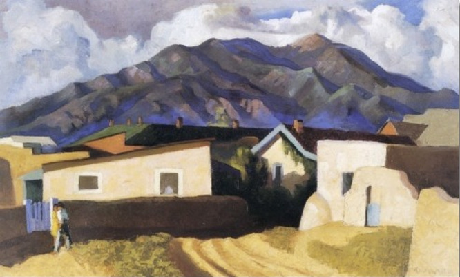 Kenneth Miller Adams (1897 - 1966)  - A Street In Taos, n.d.