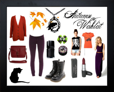 Autumn wishlist 2012 by clairecalavera featuring crop topsJersey dress / Boyfriend cardigan, $16 / Crop top, $13 / Acid wash jeans / Lace up boots / Satchel handbag, $4.83 / Cameo  jewelry / Watercolor Painting / Custom Personalized Silhouette Cat - 12 x 16 Black Framed Art with… / Magical Black, $22 / The Wildcat Collection Ltd, the worlds number 1 supplier of high…, $6.44