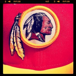 Today's tribe colors #redskins (Taken with Instagram)