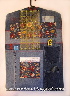 idea for hanging organizer for quilting rulers and other supplies