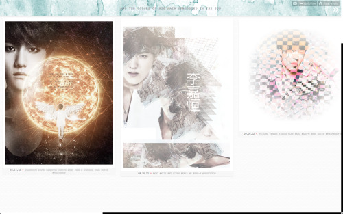 New theme! I changed it because I know the Tumblr controls weren't working properly on the previous theme. This might be better for viewing too. ^^