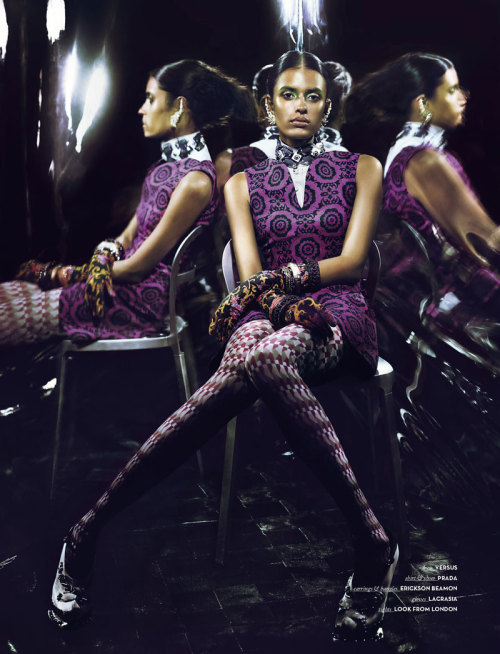 modelsofcolor:  Lakshmi Menon sports geometric fashions for Vision China September 2012 by Yasunari Kikuma
