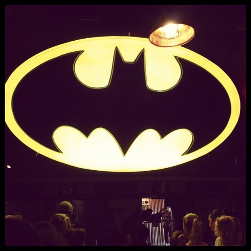 In the Batcave (Taken with Instagram at Batman: The Ride)