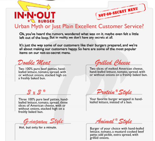 "bensiemon:  OMG! In & Out"" has a secret menu, you guys!"