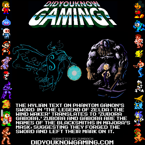didyouknowgaming:  The Legend of Zelda The Wind Waker.
