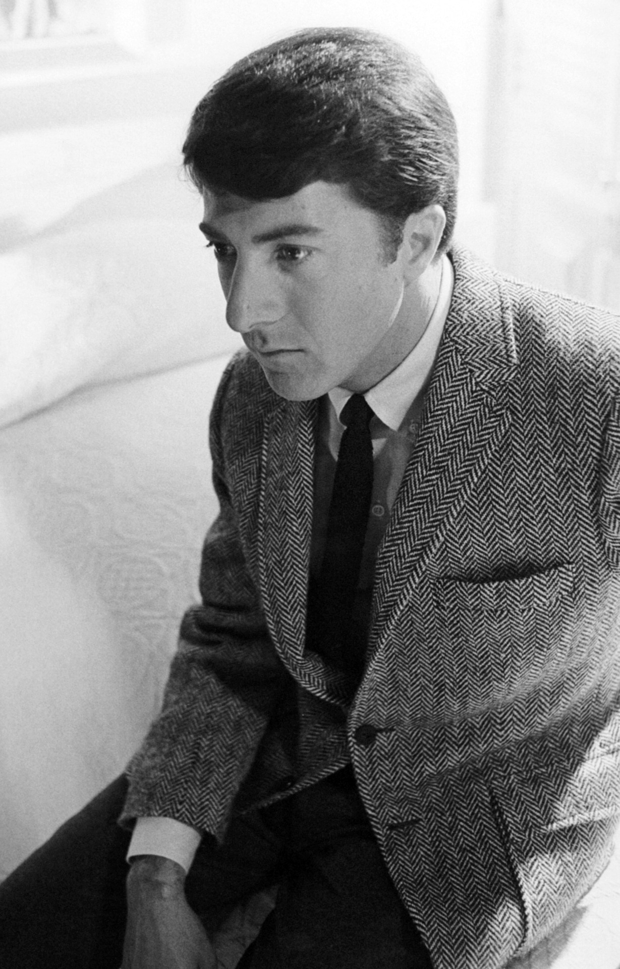 B&W Herringbone Tweed: Nothing More Classic For Fall. Dustin Hoffman.