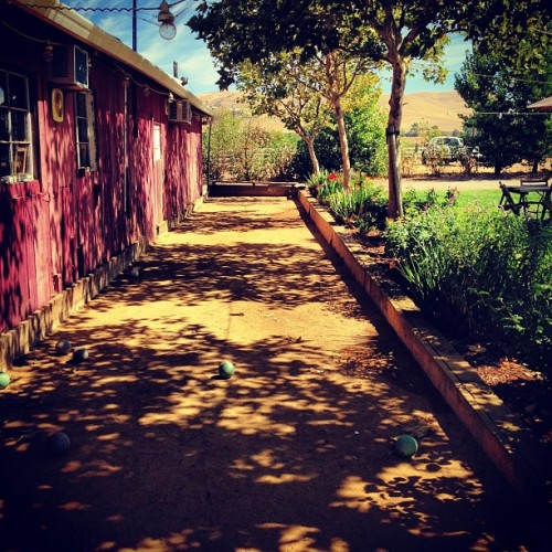 Bocce in the vinyards.  (Taken with Instagram at BoaVentura de Caires Winery)