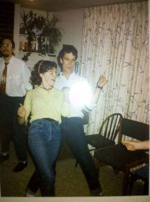 willonthebus:  Bill Nye partying in the 80's.