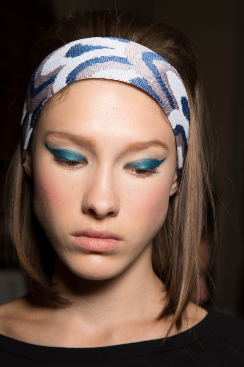 RUNWAY REPORT: DAY 3 Our new beauty crush is on Colour Crush! Today was more chilled at Vauxhall Fashion Scout after the hectic schedule of the last two days. Nonetheless still super exciting as the new Colour Crush eye colour collection launching in Spring 12 continued to wow the fashion pack in London. Head Make-up Artist Lan Nguyen-Grealis mixed brights with a geometric shape and cheeky flick for the Ekaterina Kukhareva SS13 show, which drew inspiration from the 60's fashion icon Brigitte Bardot. The mood was happy, care free, glamorous and sexy. For more information on shows and exhibitions review the week in detail at http://www.thefashionscout.com/