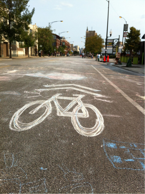 iangromero:  Chalk out bike lane