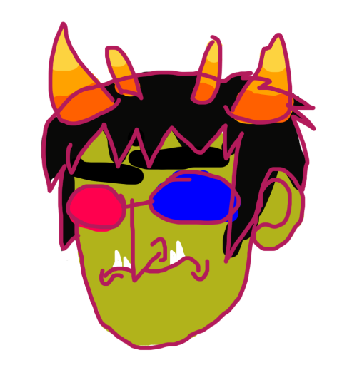 megan said she didnt like when sollux was drawn with a triangle nosedrawn in stunning 300 dpi with my laptops trackpad