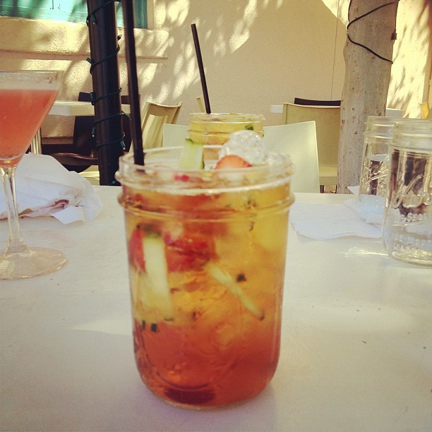 Pimm's cup. I …. can't believe I'm drinking.  (Taken with Instagram)