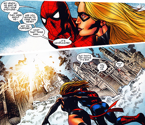 comiczzz:  Ms.Marvel & Spiderman, I wish they'd hook up already.