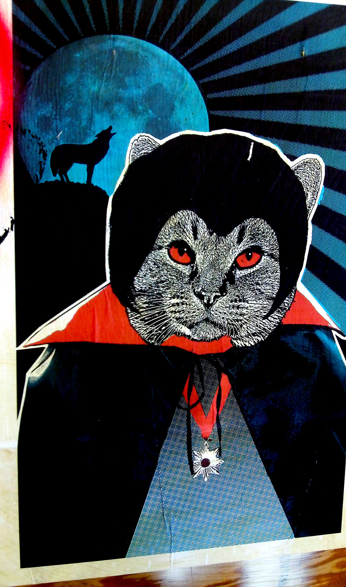 Dracula ca street art in Los Angeles, CA.