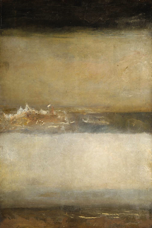proustitute:  J. M. W. Turner, Three Seascapes, c. 1827 (via iamjapanese; indubio)