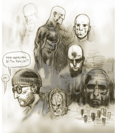 Quick pencil sketches of Prometheus and Leon from The Professional