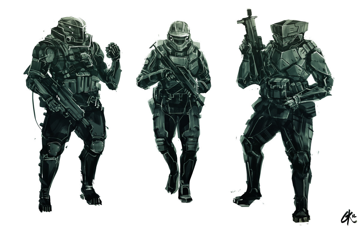 Shock-Trooper Sketches I want to just say; thanks you to all my followers, you've really made me smile every-time I logged in. Your support really means a lot to this starving artist :)