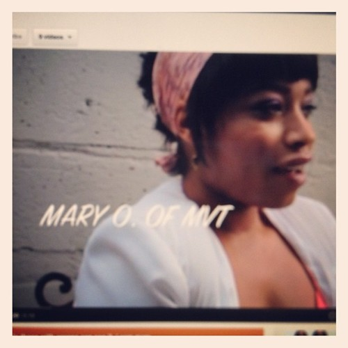 Three days until the release of our feature on @maryomvt ! Stay tuned #feature #interview #vintage #fashion #mvt #video (Taken with Instagram)