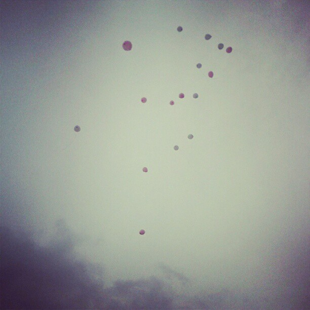 The release of the 16 balloons . I love you granny. (Taken with Instagram)