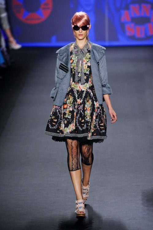 Crushing over this Anna Sui dress from the designer's Spring/Summer 2013 show. (Image via Fashionista)
