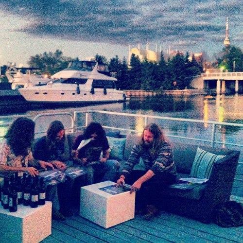 The Sheepdogs in Toronto, before their show at Echo Beach.  Canadian Club Mixed & Ready brought together some of the greatest bands currently in Canadian rock at Echo Beach in Toronto. The night started with Zeus, The Sadies and Yukon Blonde, and finishing up the night we heard from the headliners, The Sheepdogs. Definitely a memorable night that did not disappoint.   For the full review click the image or [here].
