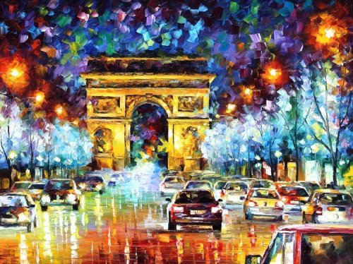 PARIS-original oil painting by Leonid Afremov by *Leonidafremov God I love this work. It is simply breath taking. one day I will buy one of his works