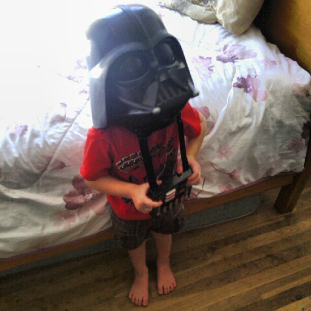 Brock #Vader . #starwars #helmet #cute #kids #boys  (Taken with Instagram)