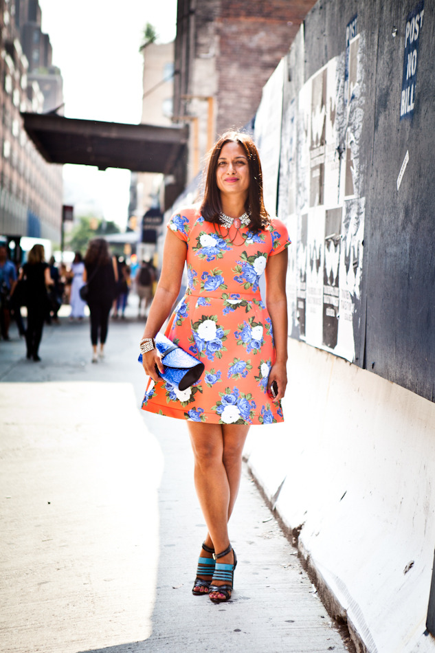 Roopal Patel in a MSGM dress outside Milk Studios in New York Check out her closet on the Coveteur