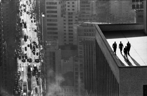 theselectedfew:  Rene Burri 'Men On A Rooftop, Sao Paulo'1960
