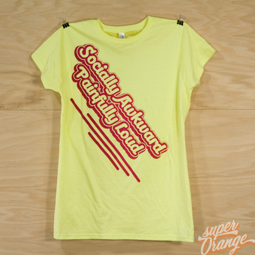 Socially Awkward Painfully Loud v.2 tee (yellow). superOrange @ Etsy