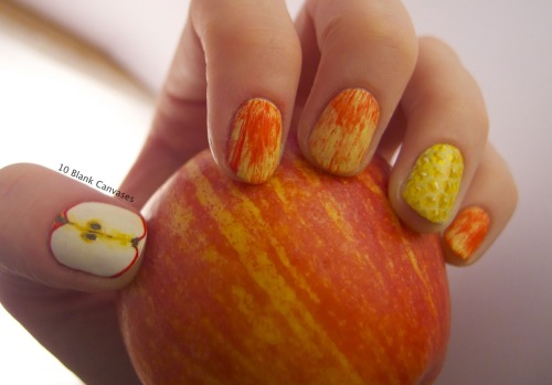 Apple and Honey nails for Rosh Hashanah
