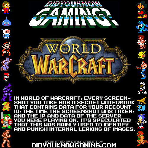 didyouknowgaming:  World of Warcraft.  Source.