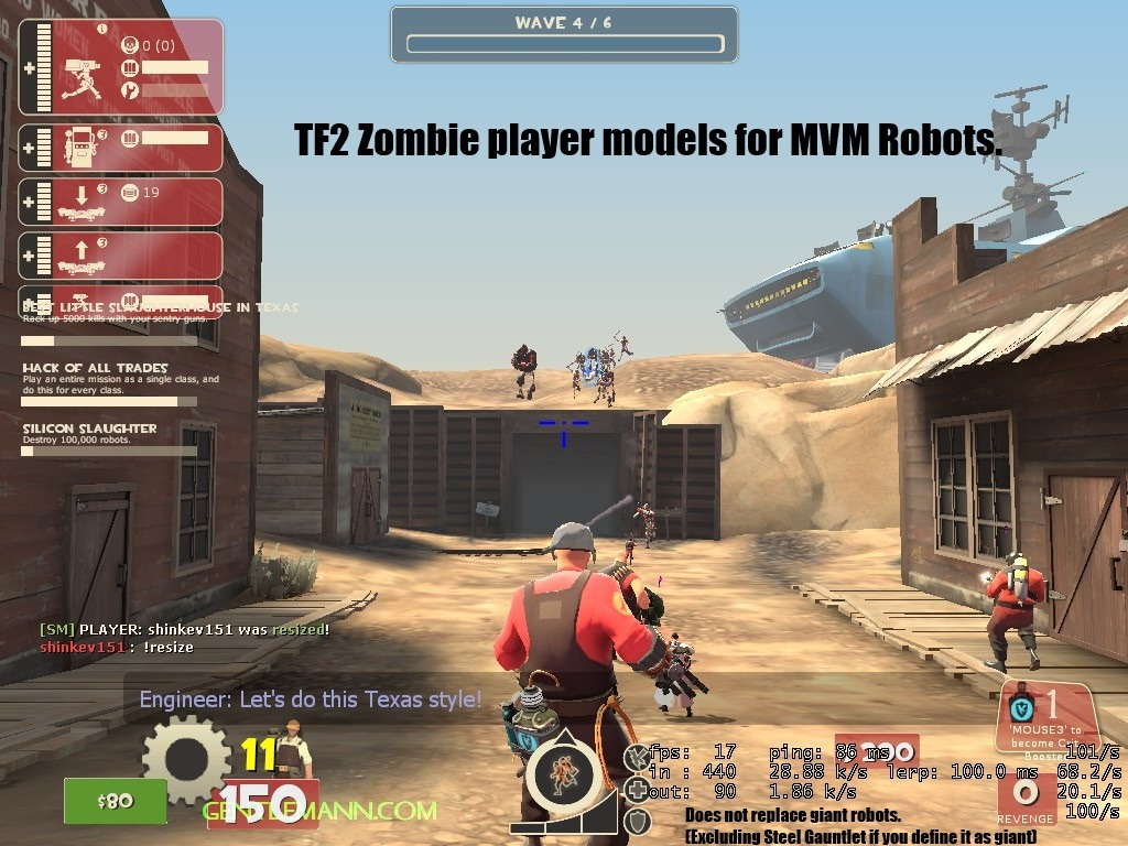 "Yes. Zombies for the mvm robots. Right Here Let's face it, did anyone look at mvm when it was announced and say ""There's no way anyone would ever make a zombie mod off of that."""