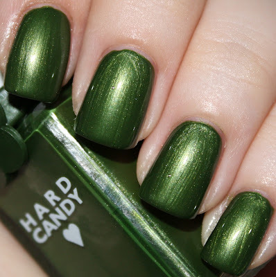 "Hard Candy ""AWOL"" — a grungy grass-green metallic shimmer (via The Scholarly Nail: Retro Sunday Squared - Vintage Hard Candy Tricky and AWOL)"