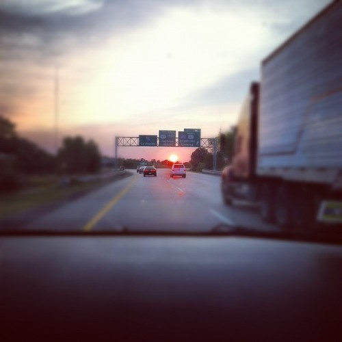 Michigan sunset on I96 (Taken with Instagram)